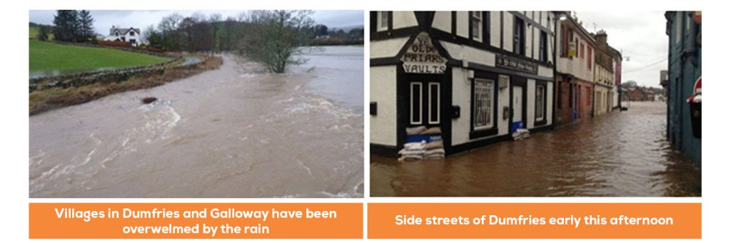 flooding in Northern Ireland Storm Frank Hits