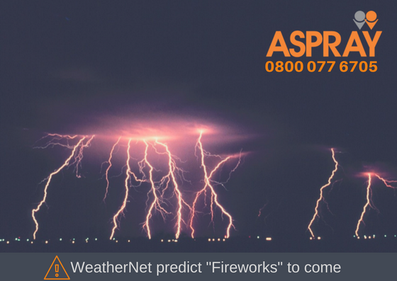 Yellow Weather Warning - Fireworks expected