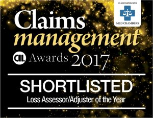 Claims Management Awards Shortlisted 2017 - loss assessor