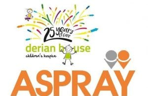 Aspray go the extra mile for Derian house picture of both logos