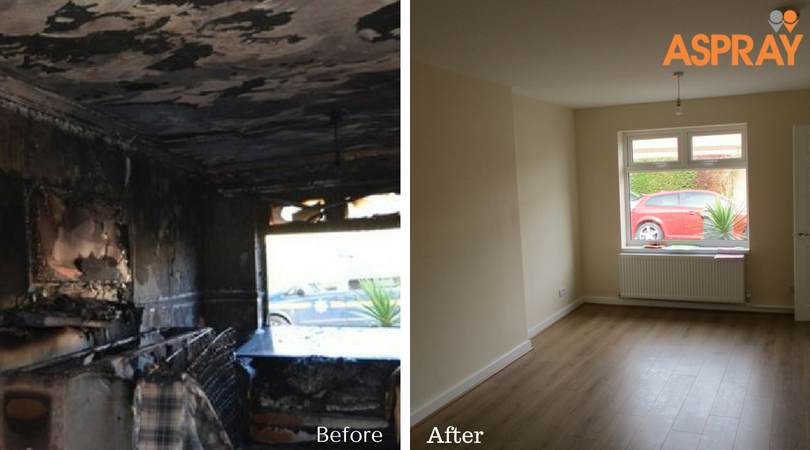 Home Insurance Fire claim - Aspray Before and After