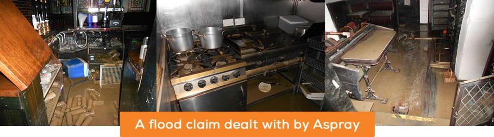 Flood Claim dealt with by Aspray