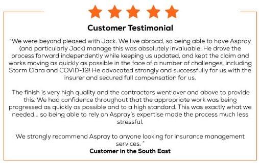 5 star customer testimonial