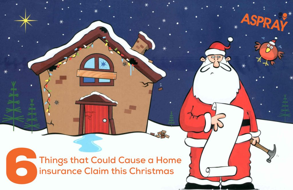 Home insurance claim at christmas