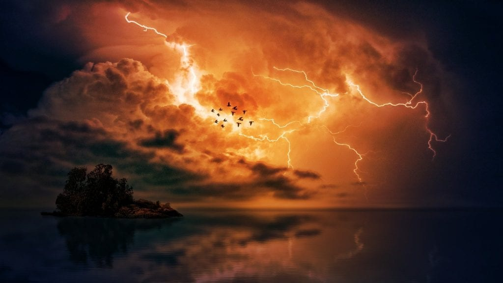 An act of God thunderstorm