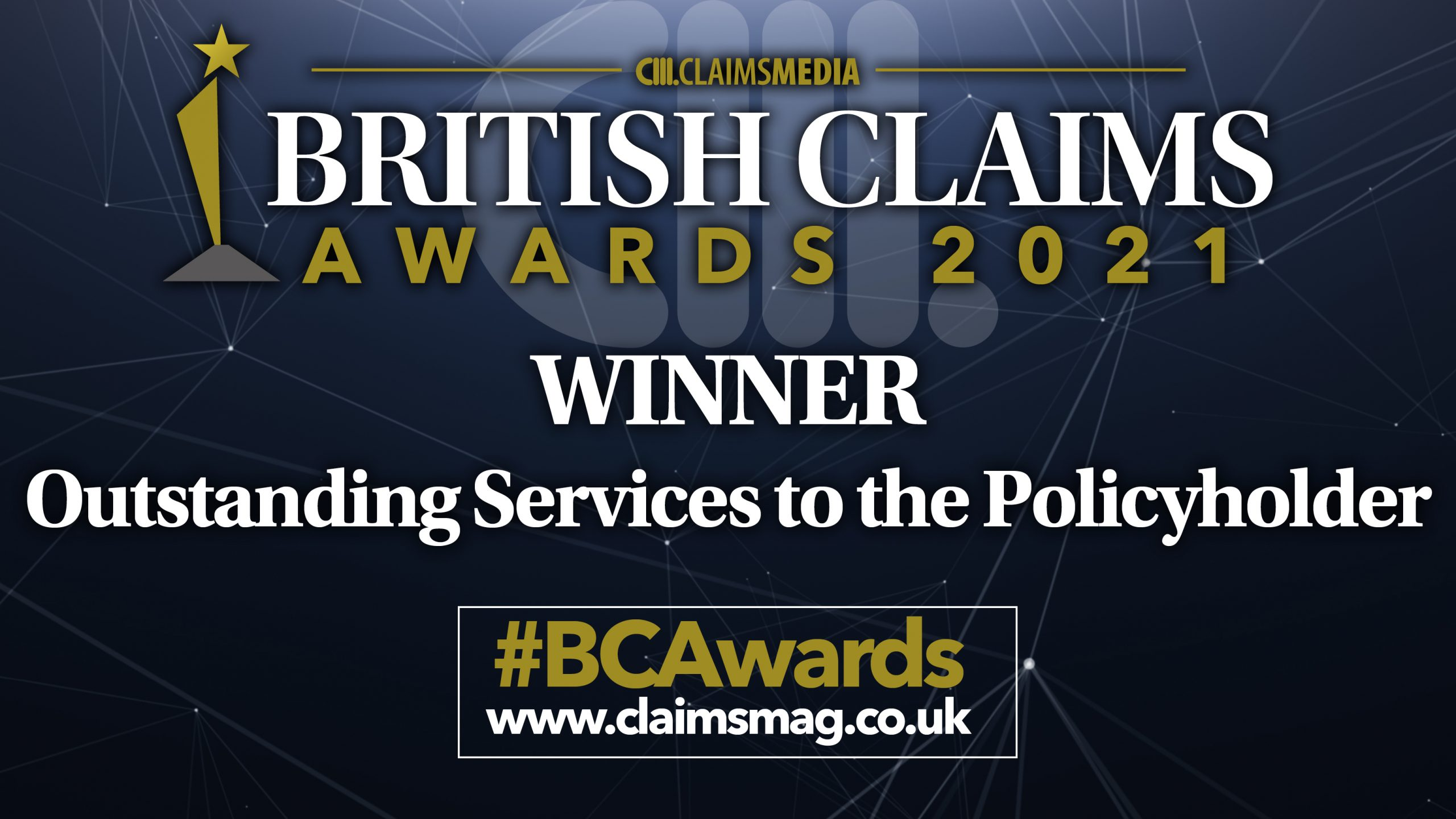 Outstanding service to policyholders winners banner